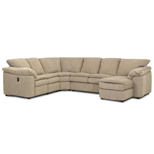 Elliston Place Legacy Dual Reclining Left Arm Loveseat, Sleeper and Right Arm Chaise Sectional