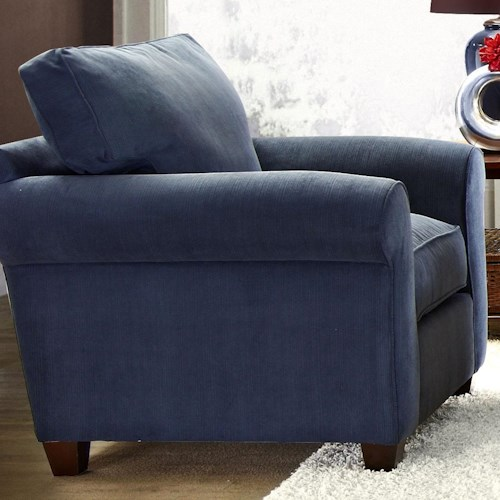 Elliston Place Lillington Distinctions  Transitional Upholstered Chair with Welt