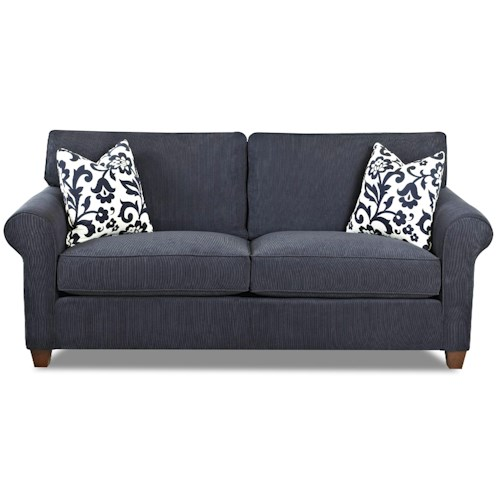 Klaussner Lillington Distinctions  Transitional Queen Sleeper Sofa with Welt
