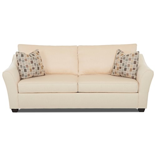 Klaussner Linville Contemporary Sofa with Flared Arms