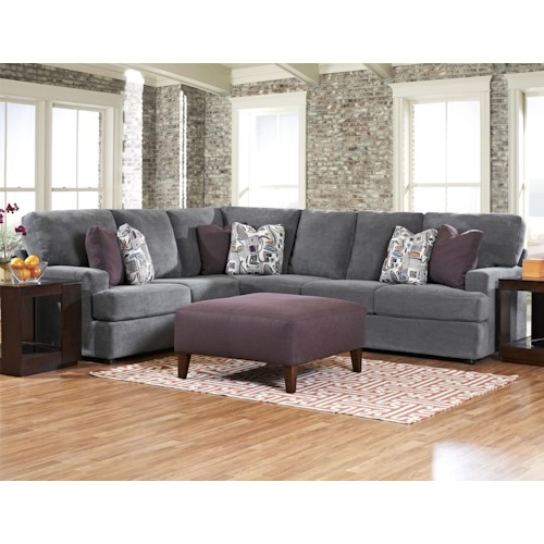 Elliston Place Maclin K91500 Contemporary 2 Piece Sectional Sofa
