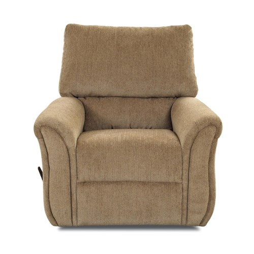 Klaussner Marcus 71903 Casual Swivel Gliding Reclining Chair with Flared Arms