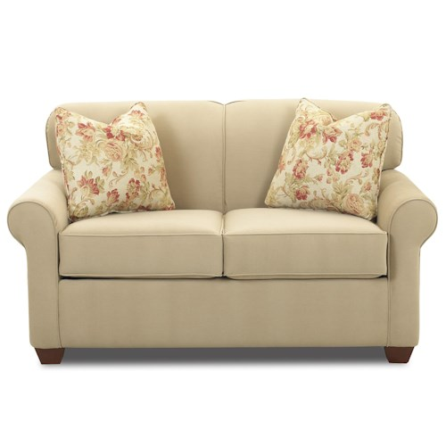 Elliston Place Mayhew Air Coil Twin Sleeper Wide Chair with Accent Pillows