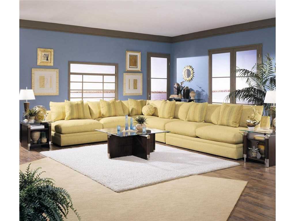 Shown in a Living Room with a Corner and Two Love Seats as a Sectional