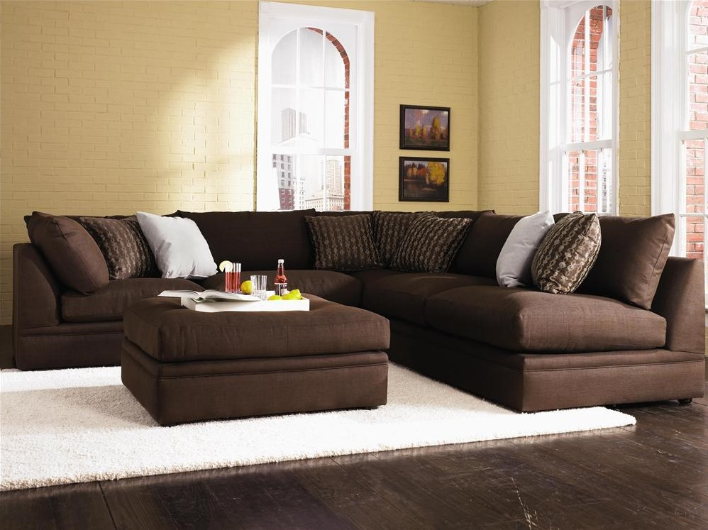 Shown in a Living Room with a Sectional Sofa in an Alternative Fabric Finish