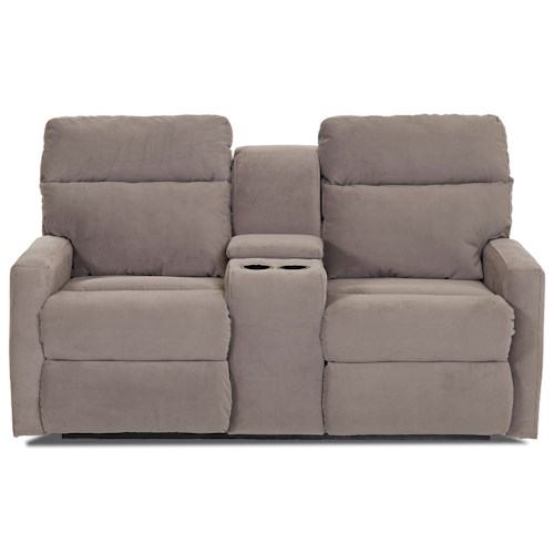 Elliston Place Monticello Power Reclining Loveseat with Cupholder Console and Storage Compartment