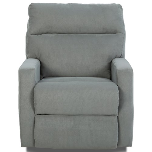 Klaussner Monticello Swivel Rocking Reclining Chair with Soft Track Arms