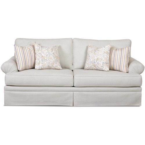 Elliston Place Napatree Casual Queen Enso Memory Foam Mattress Sofa Sleeper with Rolled Arms