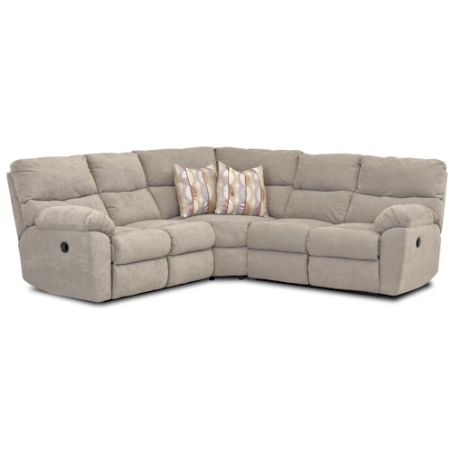 Elliston Place Odessa Casual Power Reclining Sectional with Accent Pillows