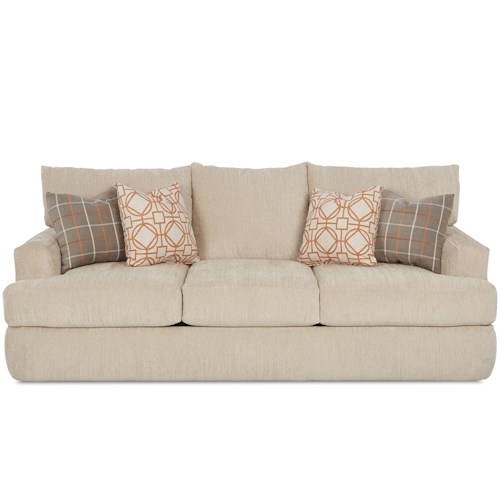 Klaussner Oliver Contemporary Track Arm Sofa