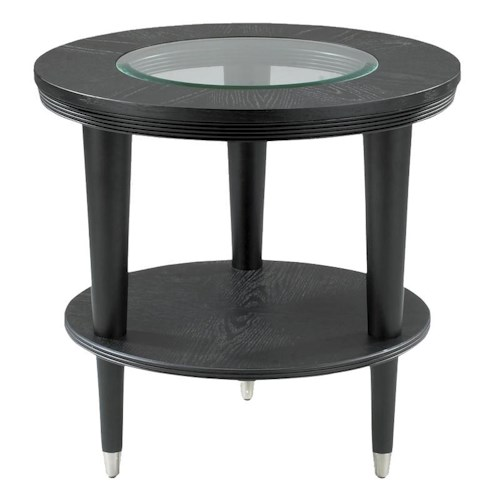 Morris Home Furnishings Ontario Contemporary Round End Table