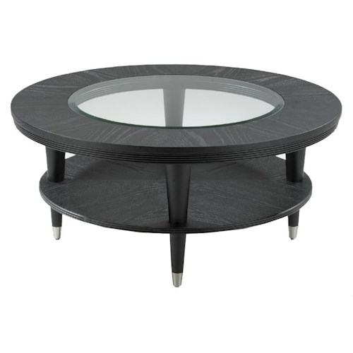Morris Home Furnishings Ontario Contemporary Round Cocktail Table