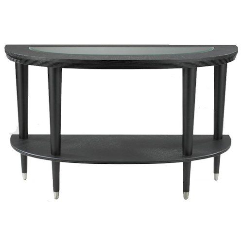 Morris Home Furnishings Ontario Contemporary Demilune Sofa Table