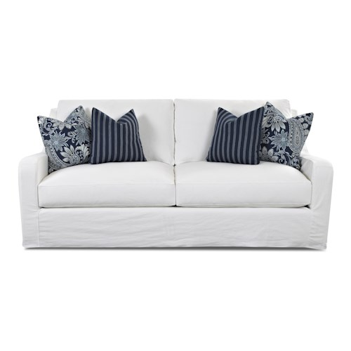 Elliston Place Pandora Transitional Sofa with Slipcover