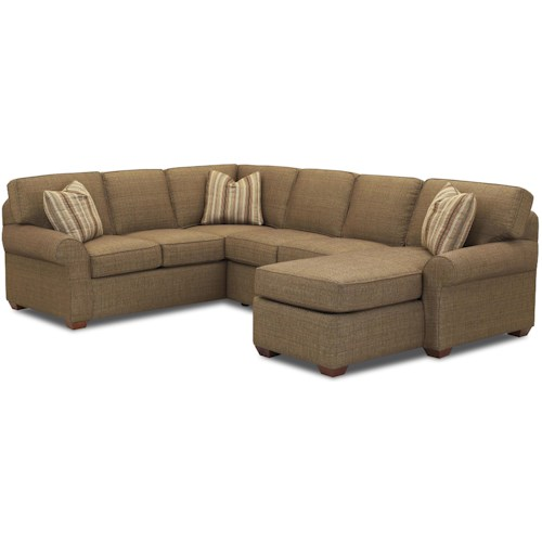 Elliston Place Patterns Sectional Sofa Group with Right Chaise Lounge