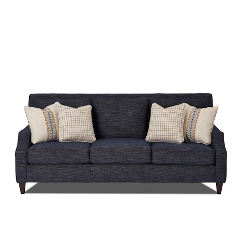Klaussner Pawley Modern Sofa with Slender Feet