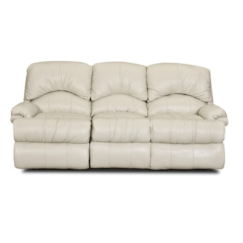 Klaussner Phoenix II Casual Power Reclining Sofa with Pillow Arms