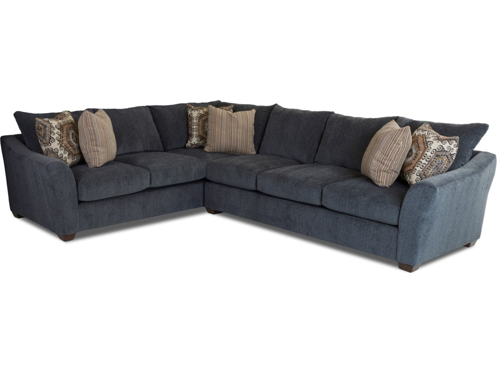 Two Piece Living Room Set Klaussner Pinecrest Two Piece Sectional Sofa With Right Corner