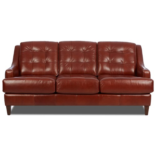 Elliston Place Pinson Contemporary Stationary Sofa with Tufted Back