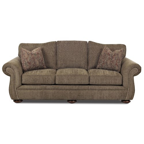 Elliston Place Platter Street Traditional Camel Back Sofa