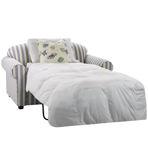 Klaussner Possibilities Royale Chair Sleeper with Accent Pillows