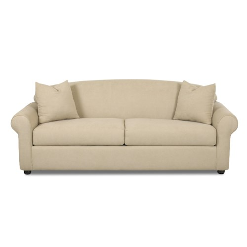 Elliston Place Possibilities Rolled Arm Sofa with Accent Pillows