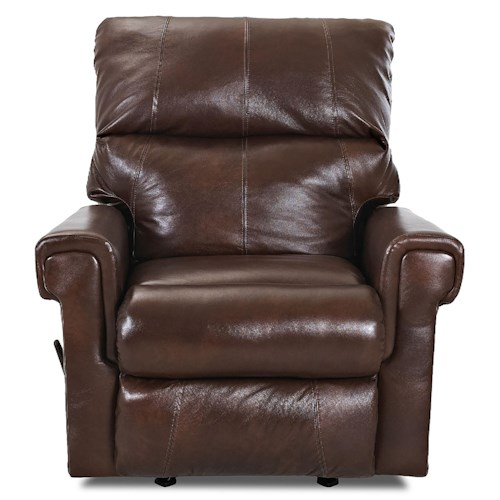 Elliston Place Rivera Casual Swivel Gliding Reclining Chair with Exterior Handle