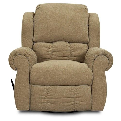 Elliston Place Rowling Casual Reclining Chair with Rolled Pillow Arms