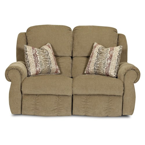 Elliston Place Rowling Casual Reclining Loveseat with 2 Accent Pillows