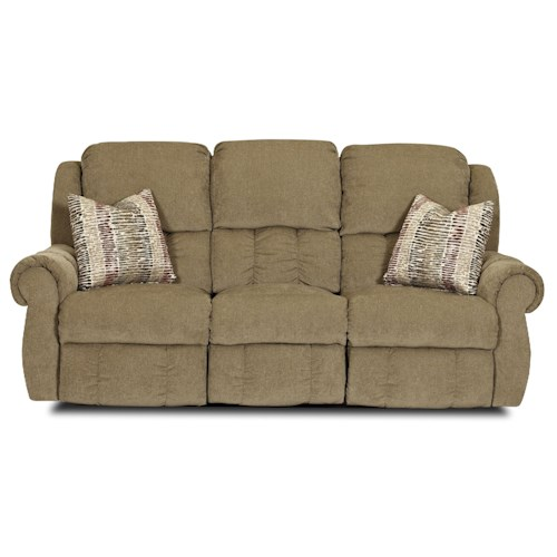 Elliston Place Rowling Casual Power Reclining Sofa with Pillows and Lumbar Support