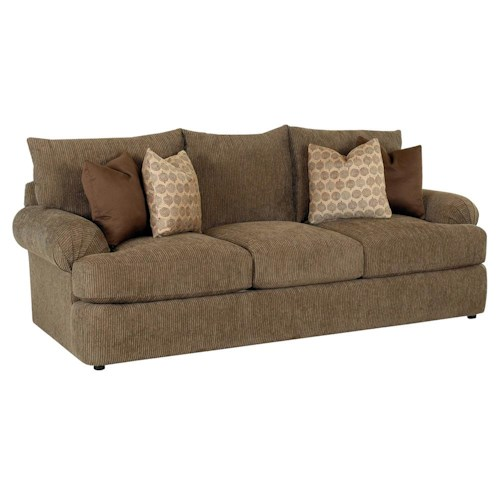 Klaussner Samantha Casual Upholstered Stationary Sofa