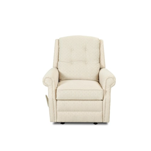 Elliston Place Sand Key Transitional Manual Swivel Rocking Reclining Chair with Button Tufting