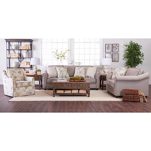 Klaussner Sandy Ridge Living Room Group Pilgrim Furniture City Stationary Living Room Groups