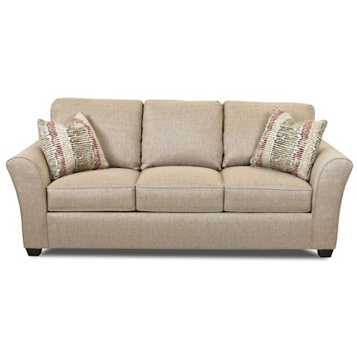 Elliston Place Sedgewick Transitional Sofa with Flared Arms