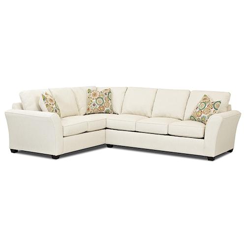 Elliston Place Sedgewick Transitional 2 Piece Sectional Sofa