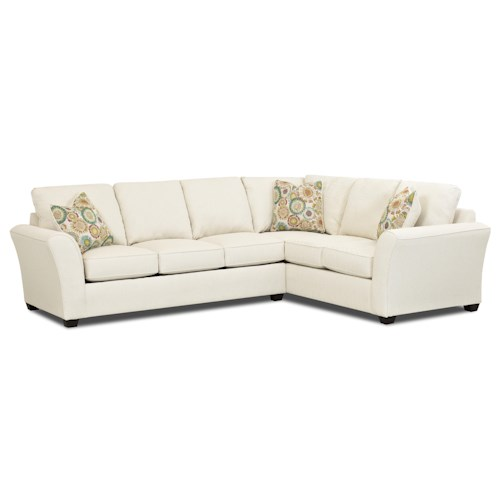 Elliston Place Sedgewick Transitional 2 Piece Sectional Sleeper Sofa with Innerspring Mattress