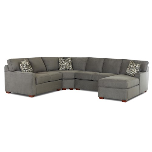 Elliston Place Selection Contemporary L-Shaped Sectional Sofa with Right Arm Facing Chaise
