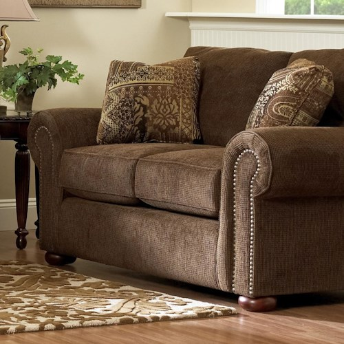 Elliston Place Sienna  Nail Head Trim Loveseat