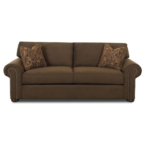 Elliston Place Sienna  Stationary Sofa with Nail Head Trim
