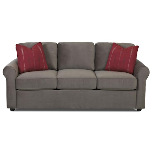 Elliston Place Silva Casual Dreamquest Queen Sleeper Sofa with Rolled Arms