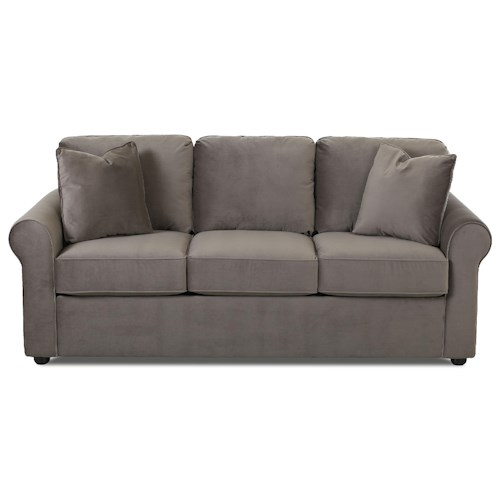 Elliston Place Silva Casual Sofa with Rolled Arms