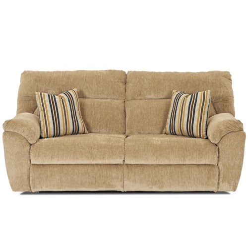 Elliston Place St Andrew Casual Reclining 2 Over 2 Sofa with Accent Pillows