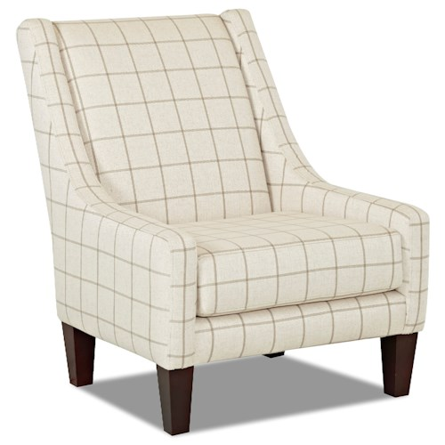 Elliston Place St Cloud Transitional Occasional Chair with Sloping Back