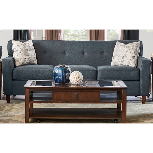 Elliston Place Staten Staten Sofa with Tufted Seatback