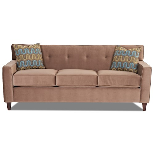 Elliston Place Staten Staten Sofa with Tufted Seatback