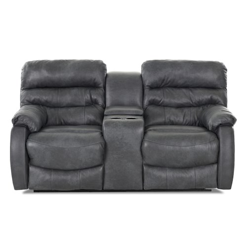 Elliston Place Stillwater Casual Console Reclining Loveseat