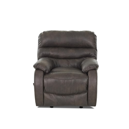 Elliston Place Stillwater Casual Reclining Chair with Plush Pillow Arms and Padded Chaise