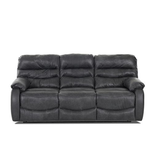 Elliston Place Stillwater Casual Reclining Sofa with Plush Pillow Arms