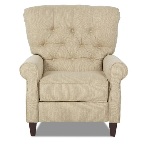 Elliston Place Strand Traditional Power High Leg Recliner with Tufted Back