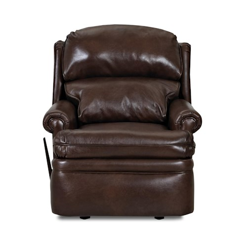 Elliston Place Sylvan Traditional Reclining Chair with Rolled Arms and Wing Back